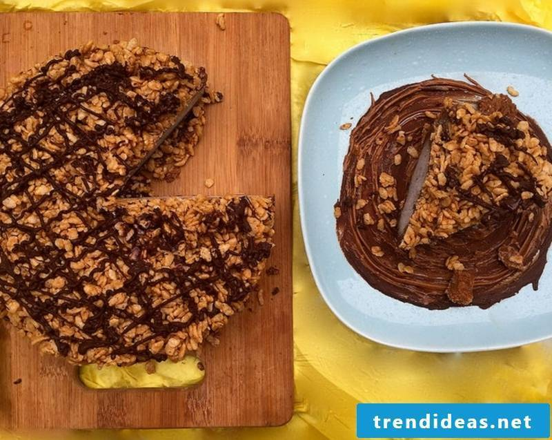 Chocolate Biscoff Crunch Vegan Ice Cream Cake