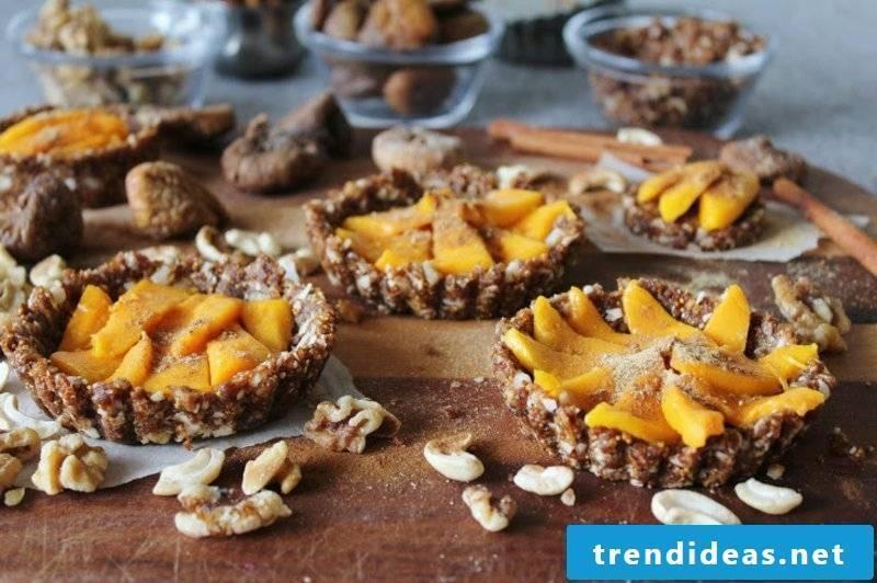 Coconut Mango Tarts With Figs, Walnuts, Cinnamon + Ginger