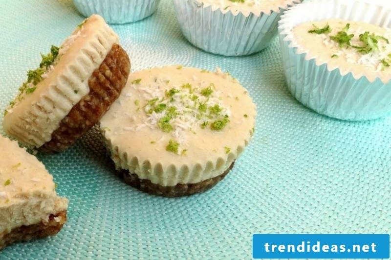 Key Lime Coconut Cheesecake Cups