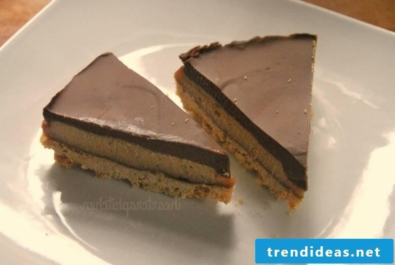 Chocolate banana peanut butter vegan pies