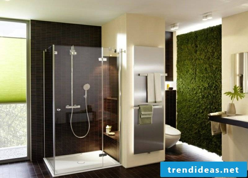 vertical garden green in the bathroom