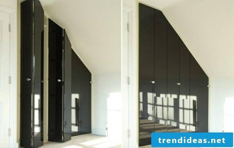 walk-in wardrobe in black