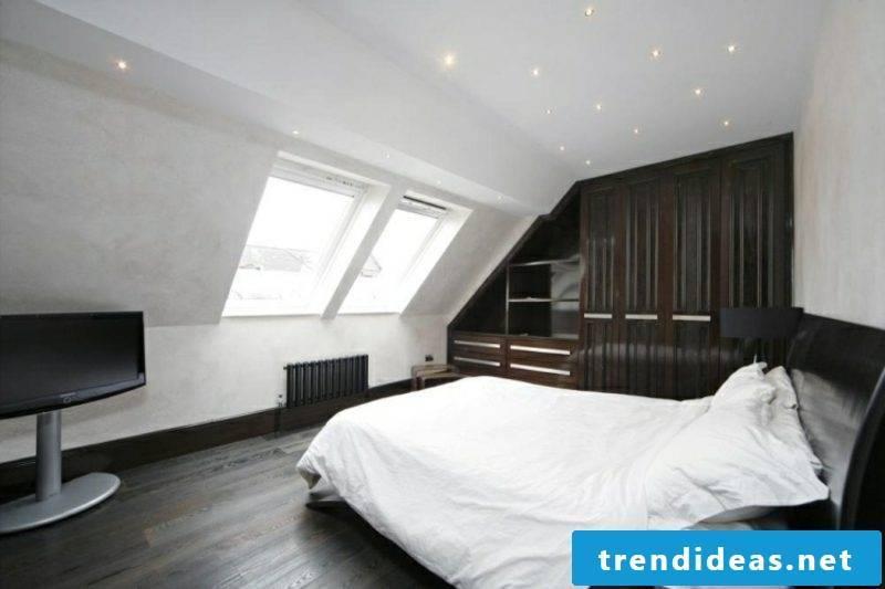 Built-in wardrobe walk-in roof pitch