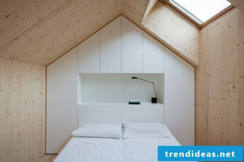 walk-in wardrobe under sloping roof original design