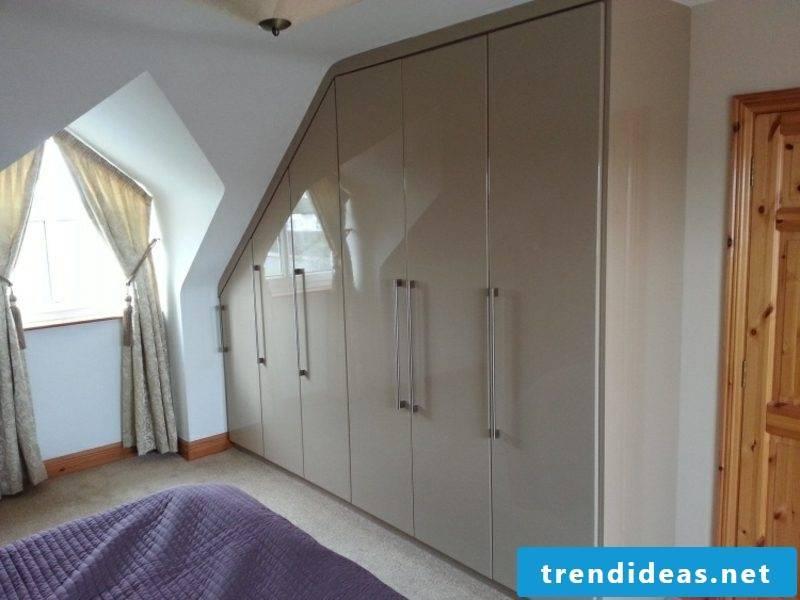 original wardrobe walk-in bedroom sloping ceiling