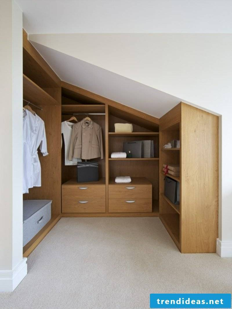 walk-in wardrobe under sloping roof classic