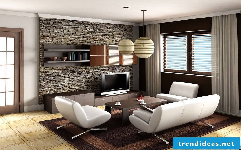 Stone paneling for the interior - great ideas to imitate