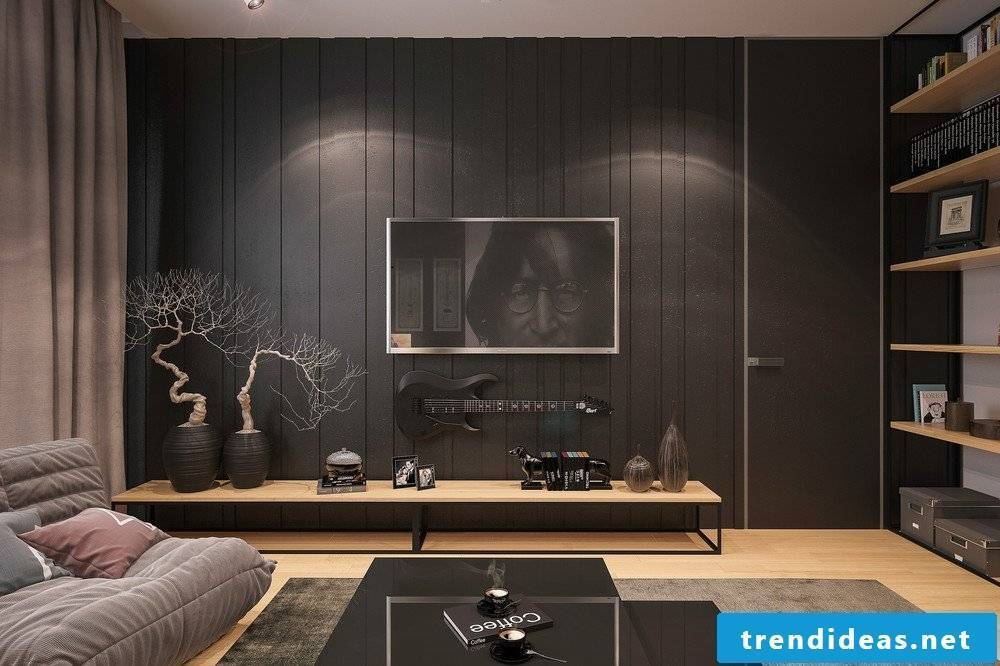 Wallcovering with wallpaper - nice alternative for wall covering in the living room