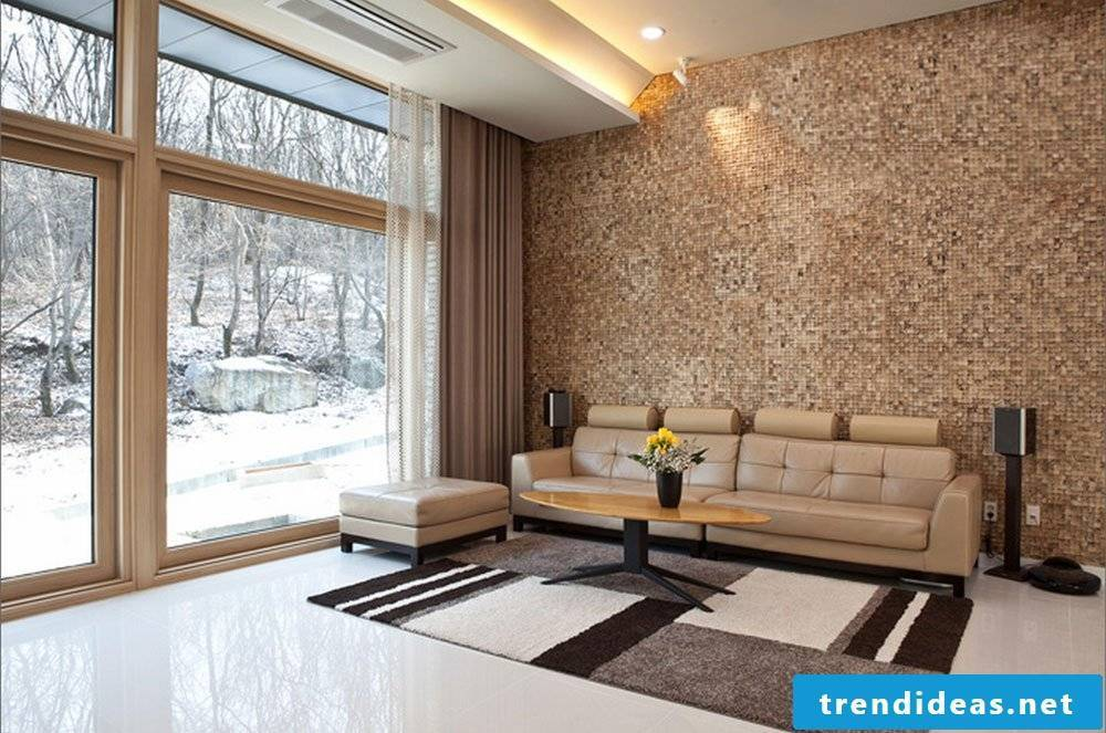 The tiles are not only an alternative for wall covering bathroom, but for living room too!