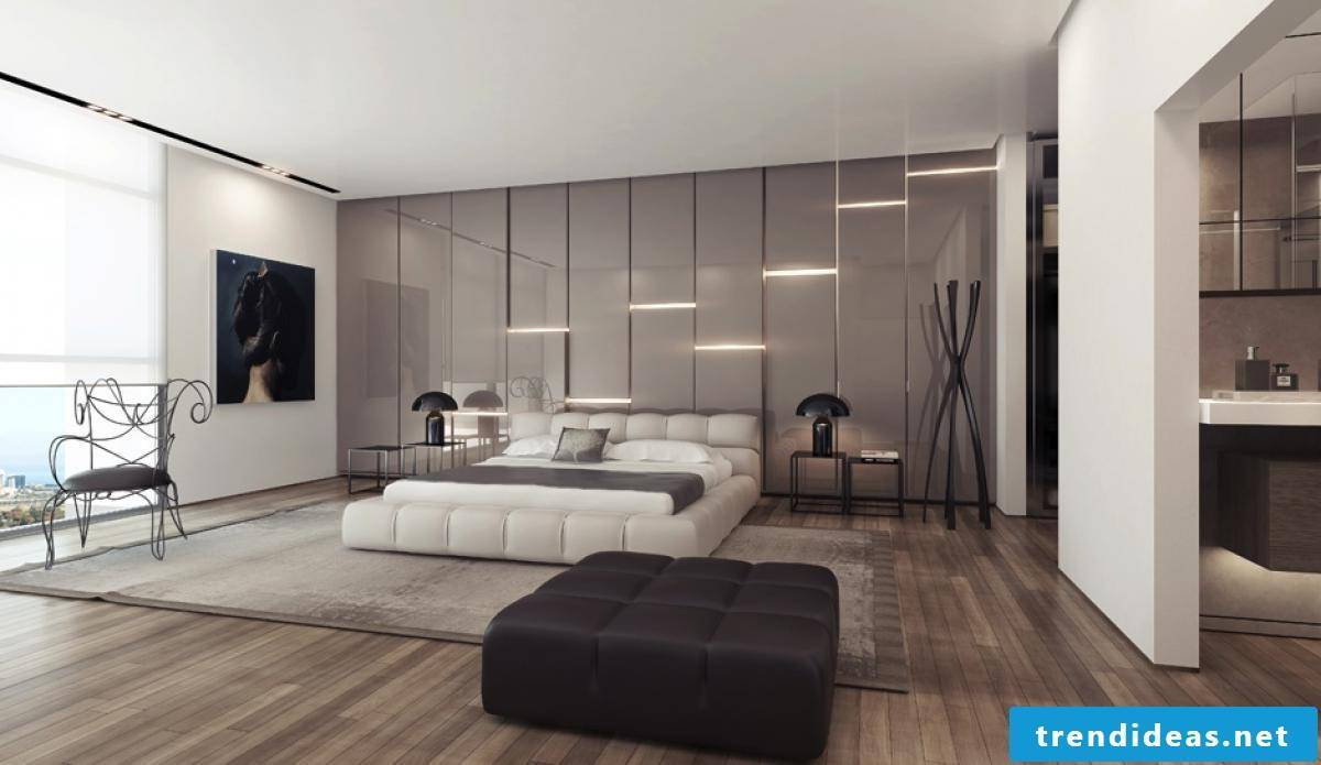 Wall covering and lighting for bedrooms can be found in our manual on this topic