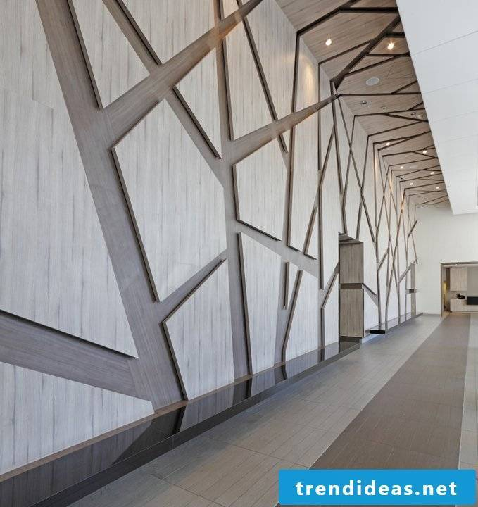 This idea for wood paneling looks elegant and modern.