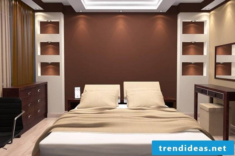 wall design bedroom ideas brown home decor wall paints