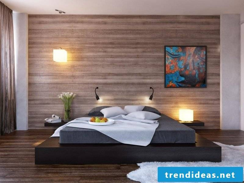 wall design bedroom ideas brown wall paint