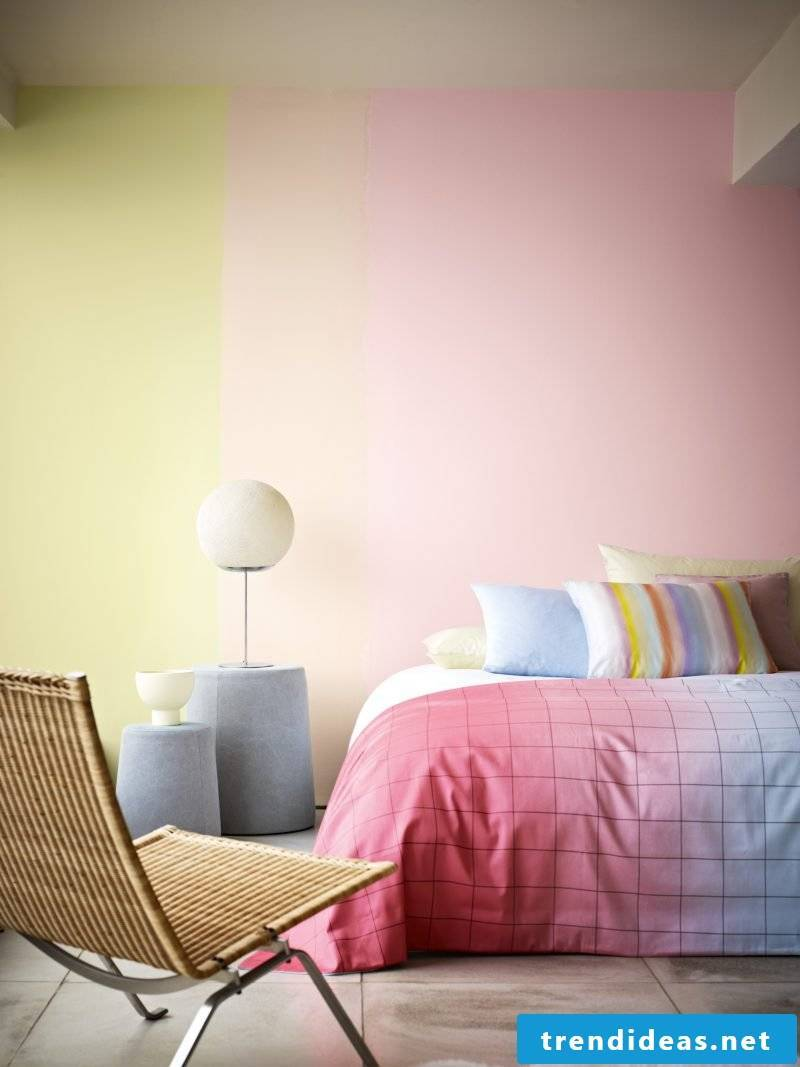wall design bedroom ideas ombre wall residential ideas