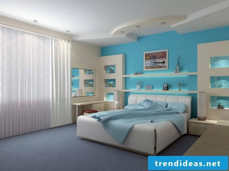 wall design bedroom ideas blue wall paint
