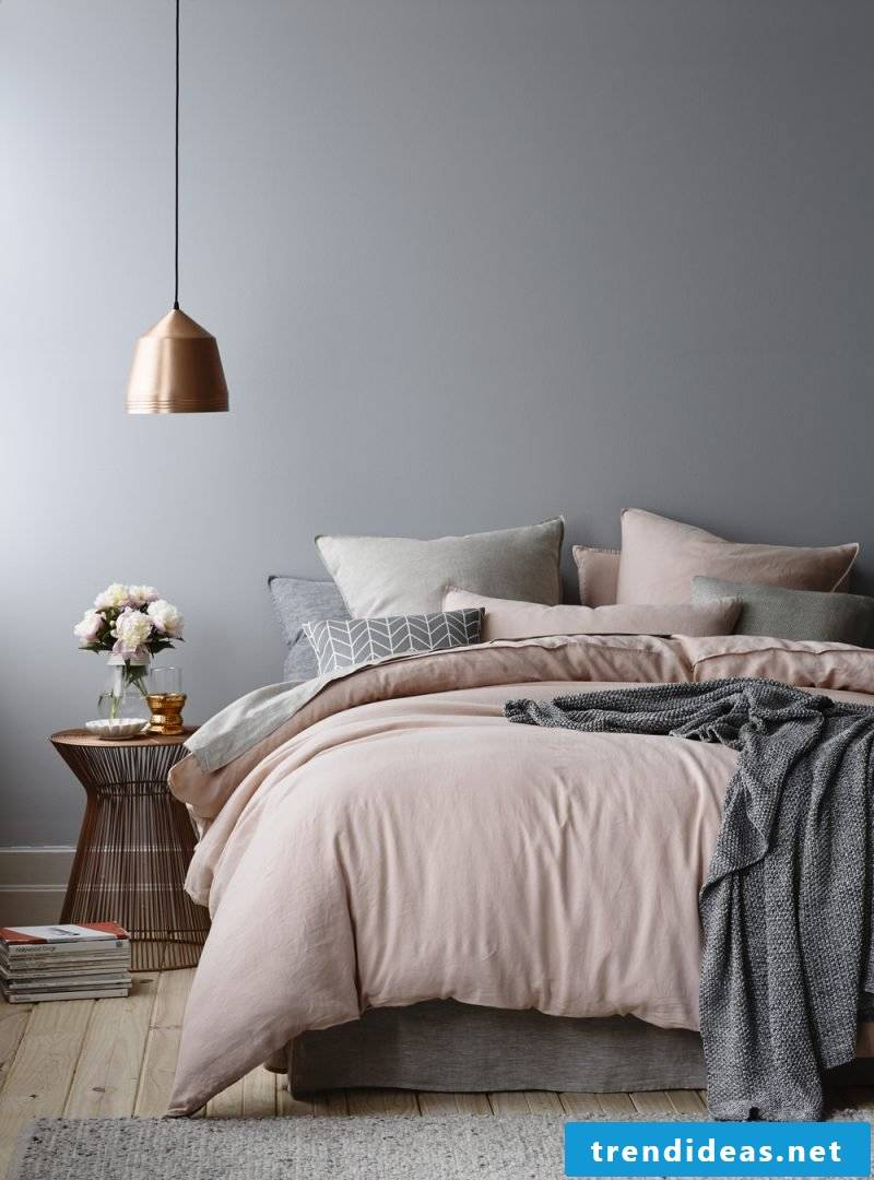 wall design bedroom ideas pink gray wall colors