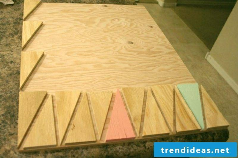 Make your own wall decoration wood mural