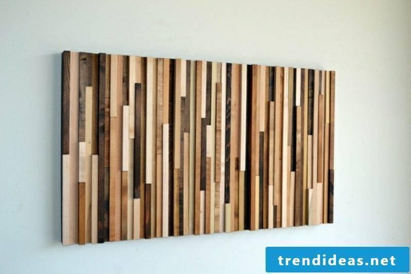 Wall decoration make wood wonderful mural itself
