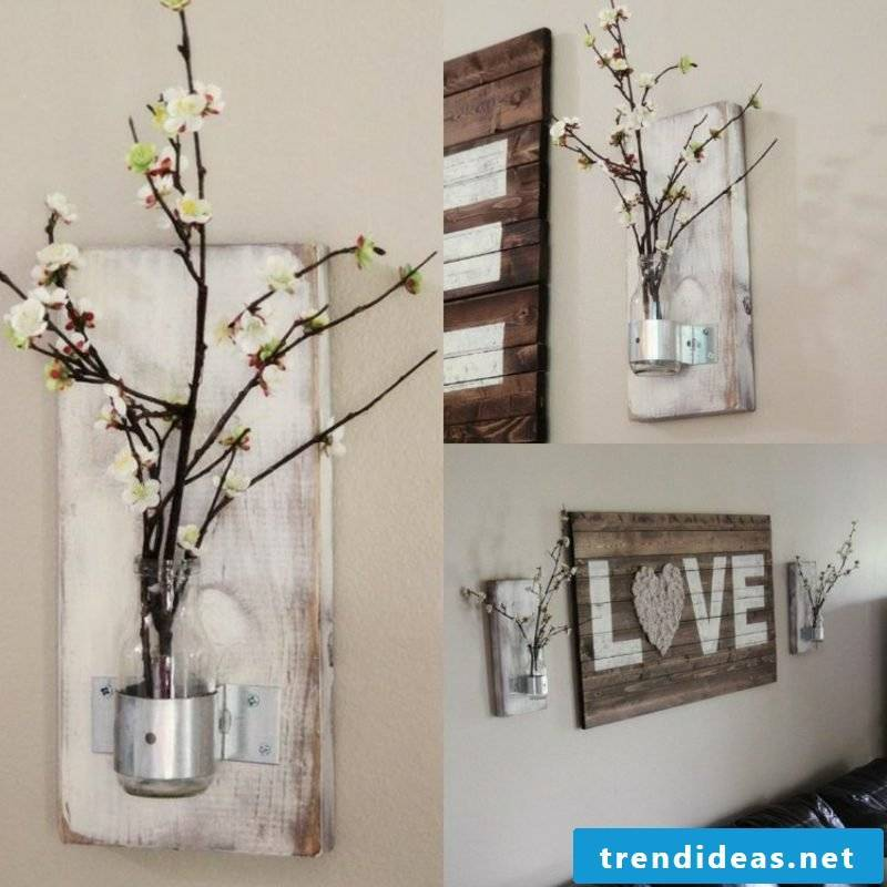 Wall decor wood decorative vases