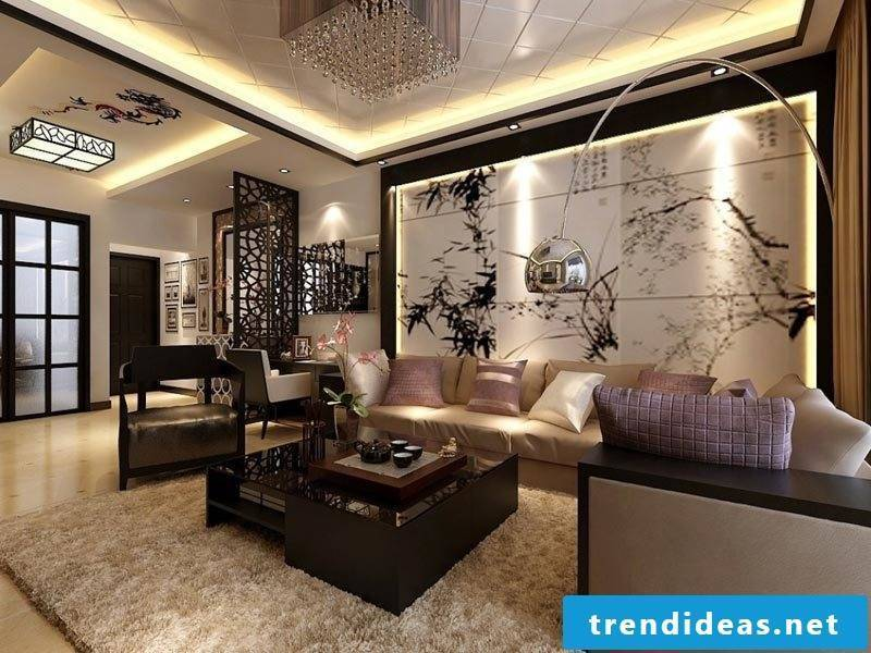 The photo wallpapers accentuate you with LED lighting