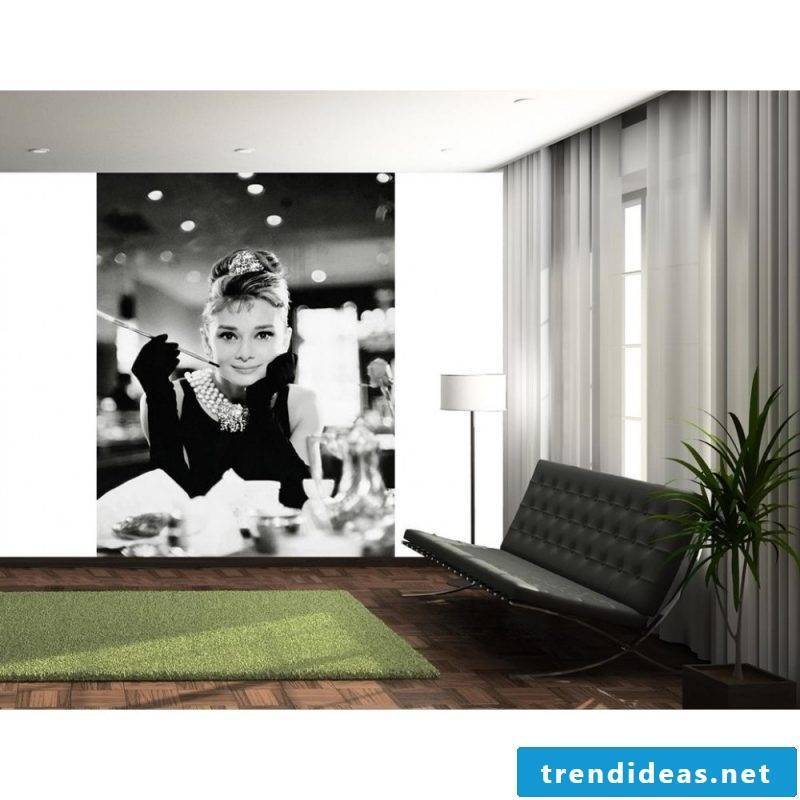 Wall mural cheap in retro style