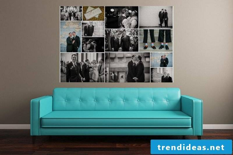 Wall mural cheap with your own photos shape