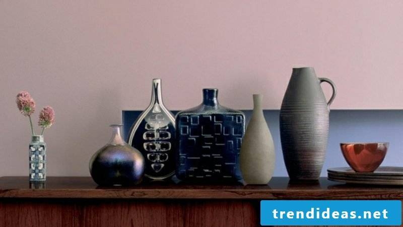 Color old rose wall deco vases ceramics