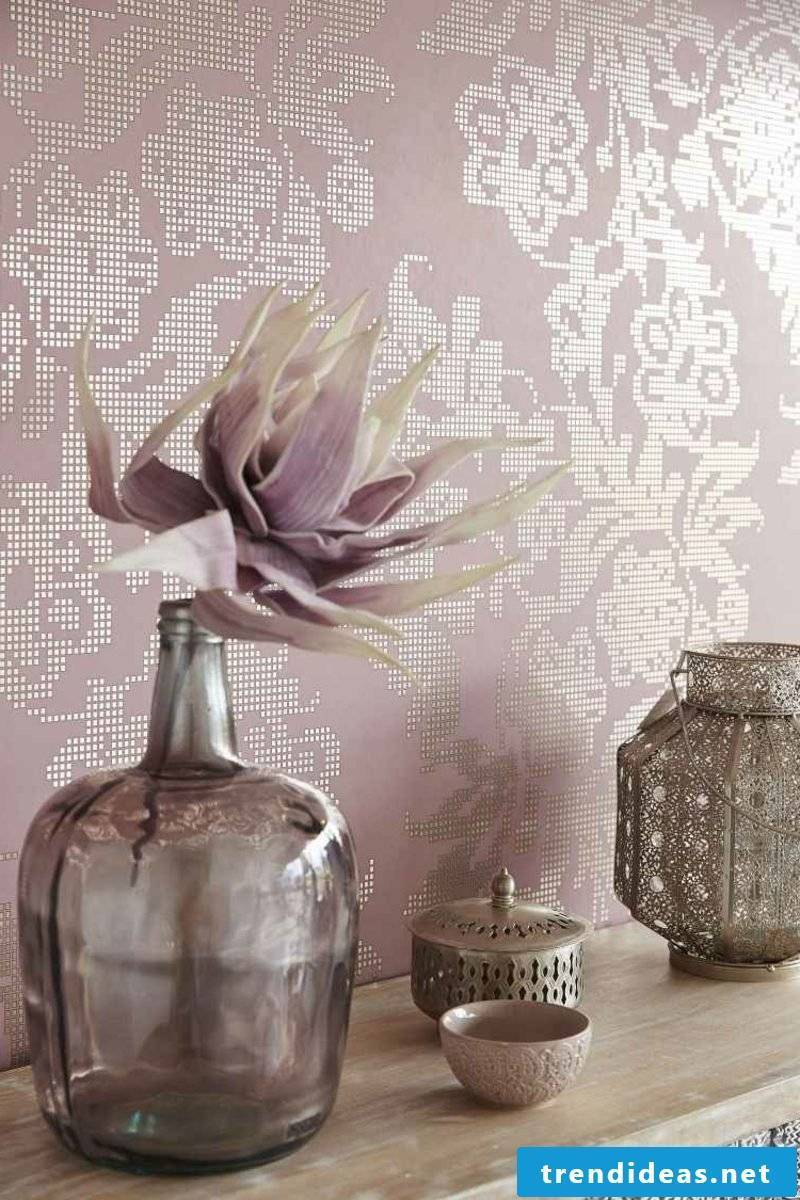 modern fabric wallpaper color old rose