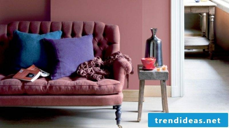 Wall couch color old pink gorgeous look