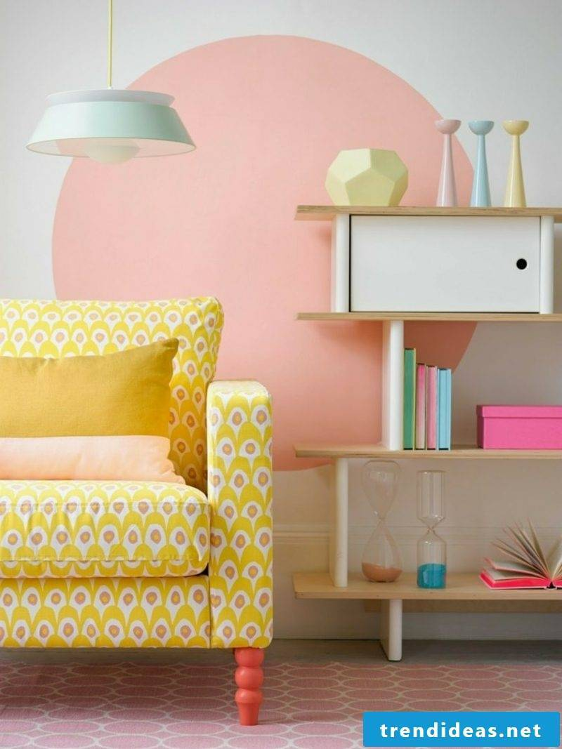 Living room color accents old rose wonderful look