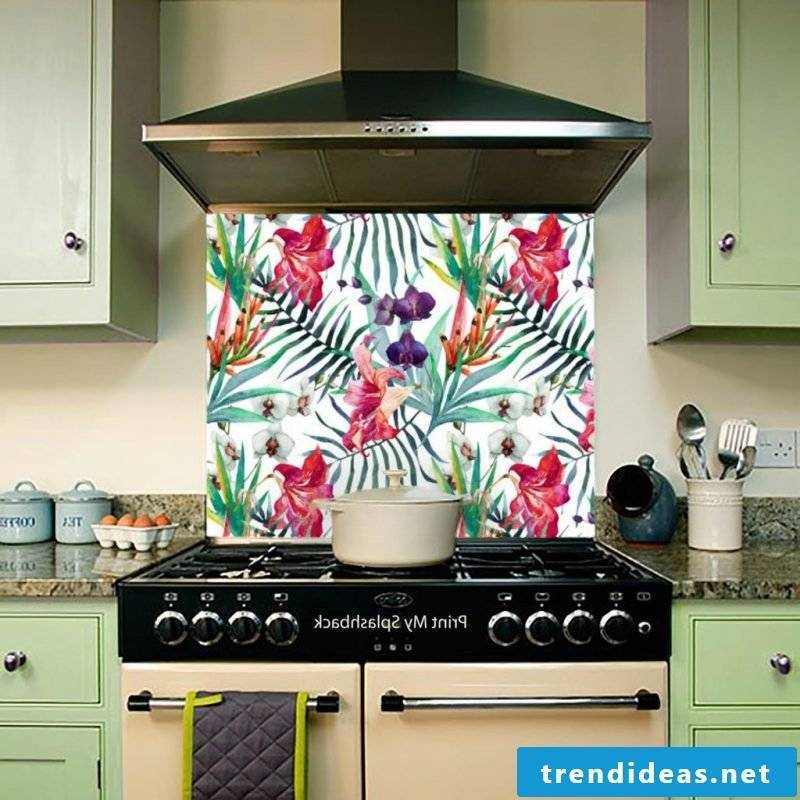 wallpaper for kitchen colorful