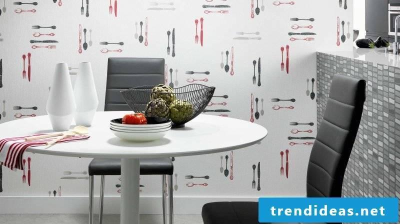 wallpaper for kitchen white