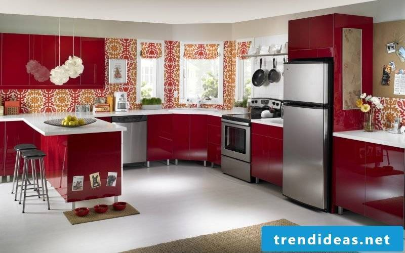 wallpaper for kitchen red