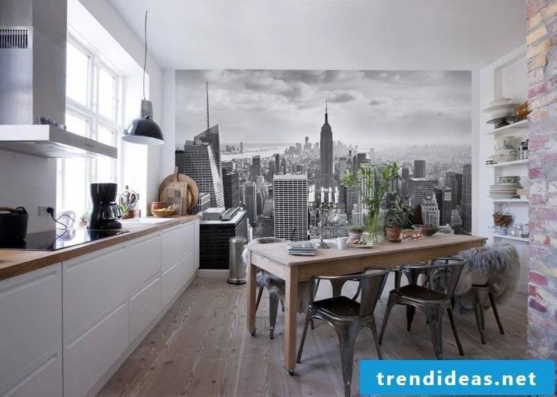 wallpaper for kitchen modern