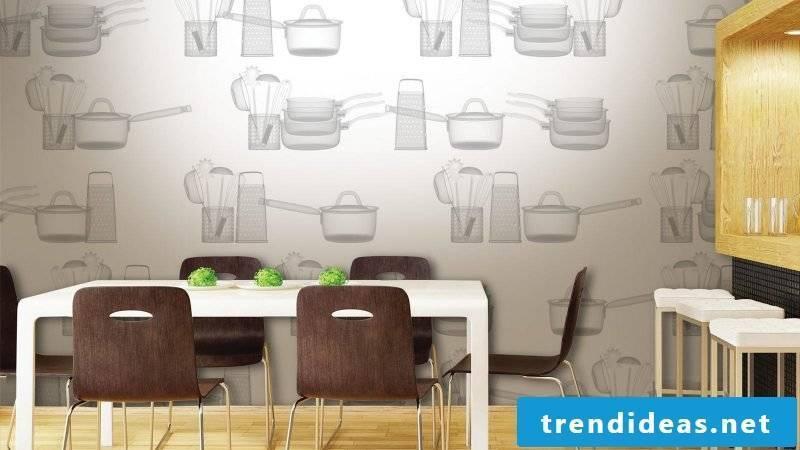 wallpaper for kitchen discreet
