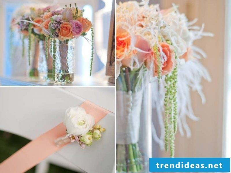 matching wedding flower arrangements