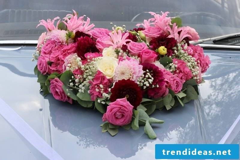 wedding flower arrangements pink