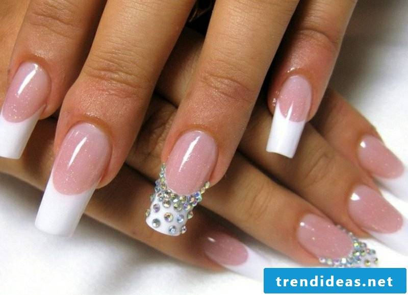 Wedding nails French wonderful design