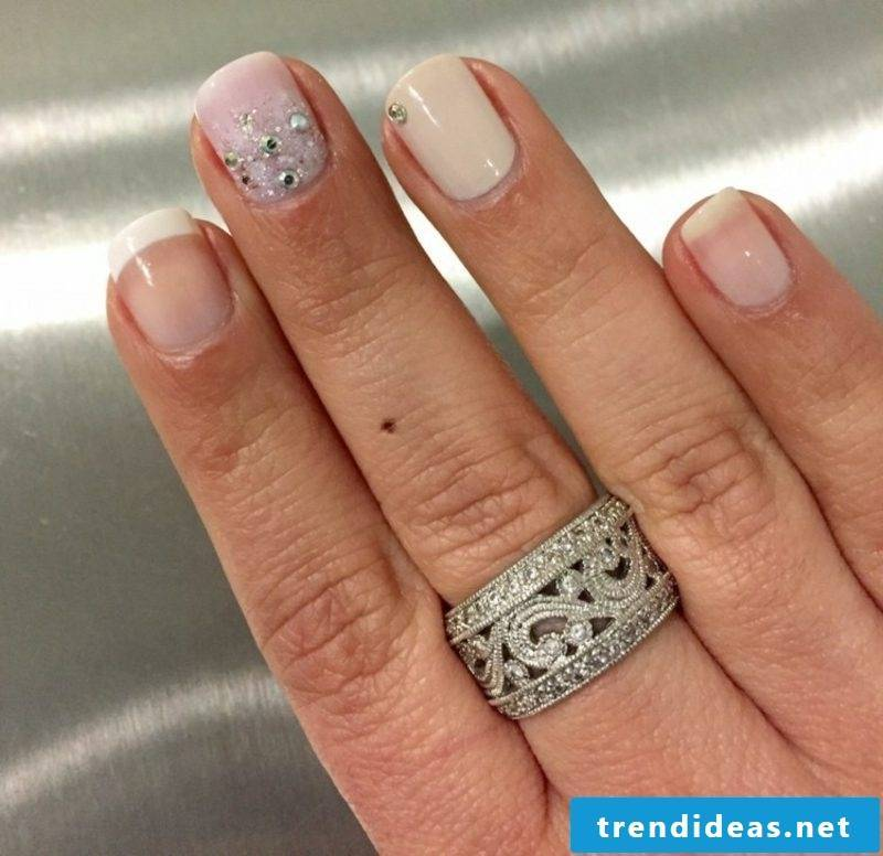 Nail design wedding original idea short fingernails