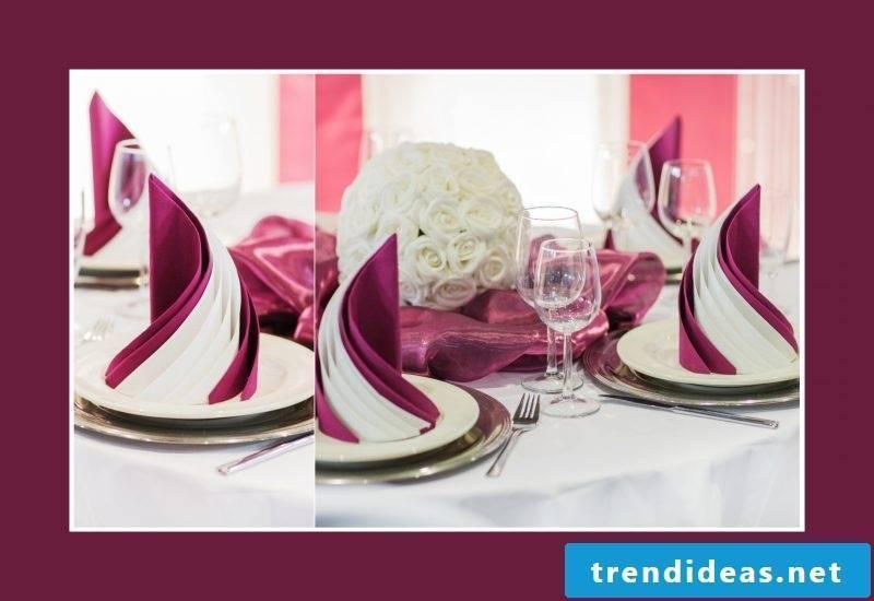 wedding napkins purple
