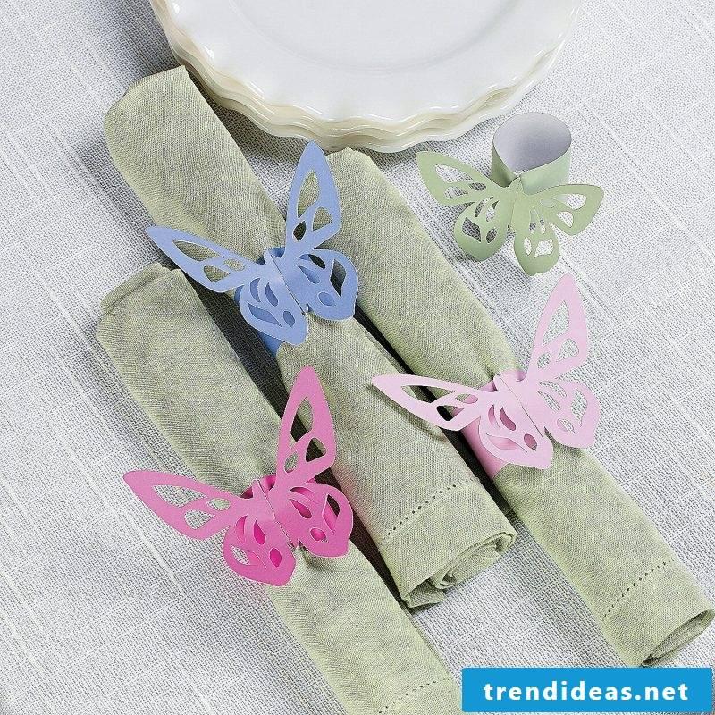 wedding napkins colorful