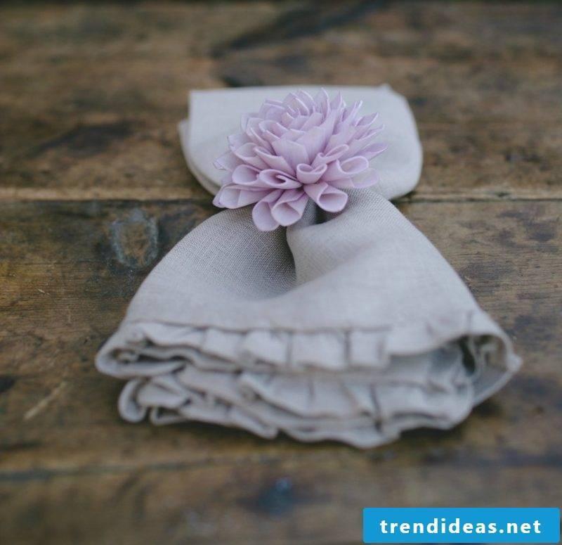 sweet wedding napkins