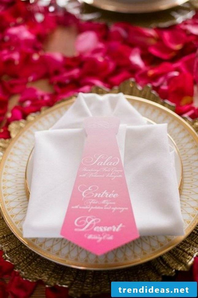 wedding napkins shirt