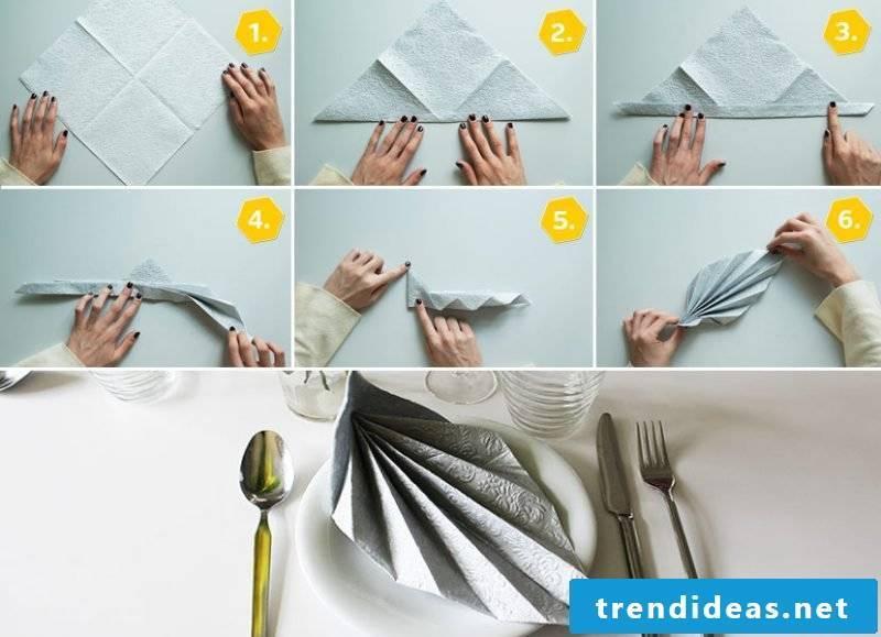 wedding napkins leaf