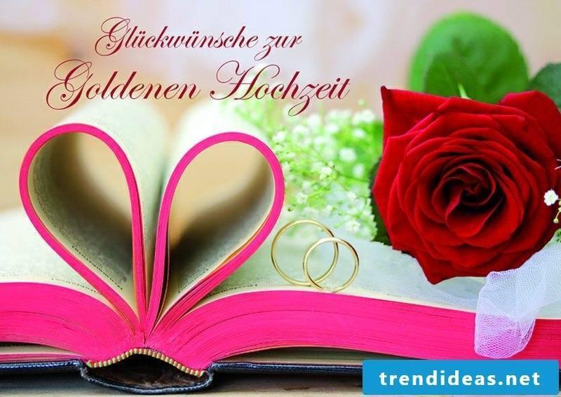 Wedding card text Golden Wedding
