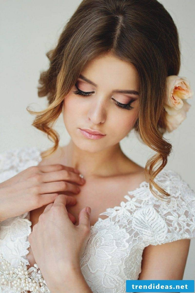 haklboffene hairstyles bridal hairstyle half-open