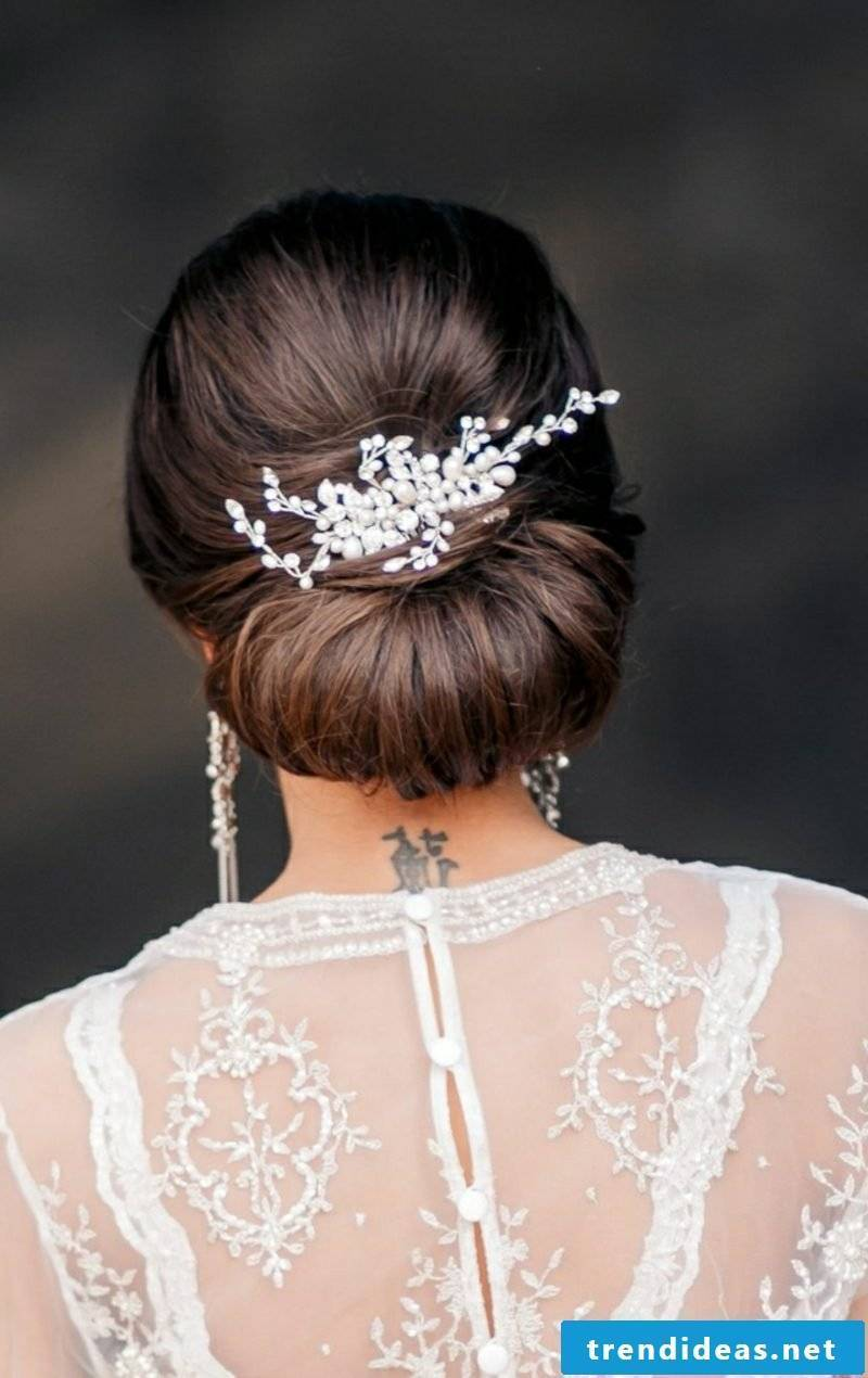 Bridal hairstyles long hair pinned up