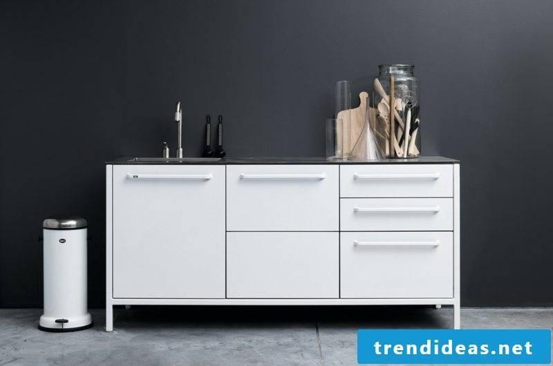 Kitchen module white modern design