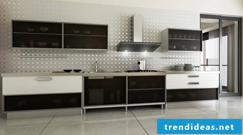modern modular kitchen made of stainless steel