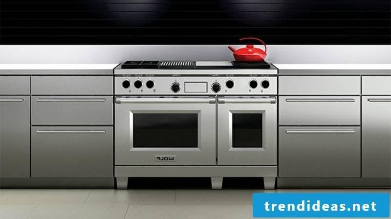 modern modular kitchen stainless steel
